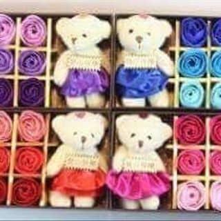 Hoa sáp thơm và gấu của trananh285 tại 01277773062, 105 Tây Sơn, Quang Trung, Quận Đống Đa, Hà Nội - 1039369