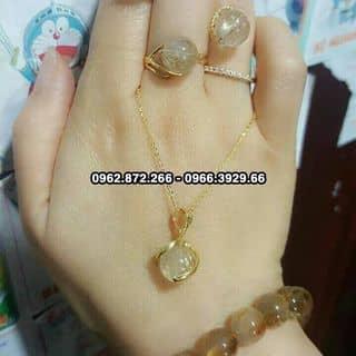 Bộ vòng, nhẫn, bông tai đá thạch anh tóc vàng bọc vàng 10k của miriko tại Hà Nội - 3167363