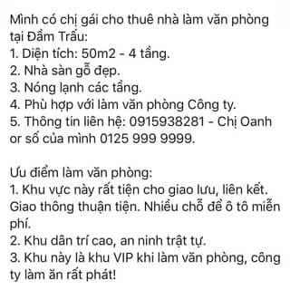 Cho thuê văn phòng lâu dài của haivancot tại Hà Nội - 2679603
